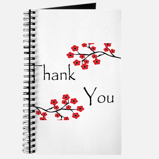 Red Cherry Blossoms Thank You.jpg Journal