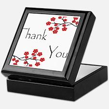 Red Cherry Blossoms Thank You.jpg Keepsake Box