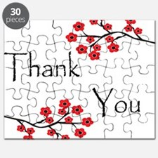 Red Cherry Blossoms Thank You.jpg Puzzle