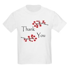Red Cherry Blossoms Thank You.jpg T-Shirt