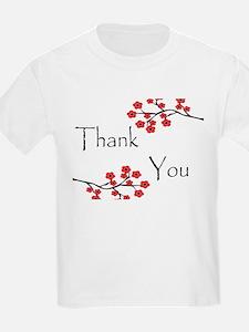 Red Cherry Blossoms Thank You.jpg T-Shirt