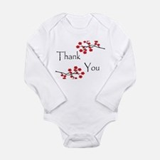 Red Cherry Blossoms Thank You.jpg Long Sleeve Infa