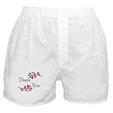 Red Cherry Blossoms Thank You.jpg Boxer Shorts