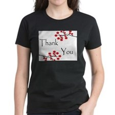 Red Cherry Blossoms Thank You.jpg Tee
