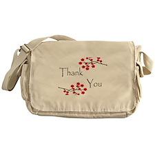 Red Cherry Blossoms Thank You.jpg Messenger Bag