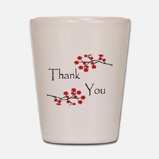 Red Cherry Blossoms Thank You.jpg Shot Glass