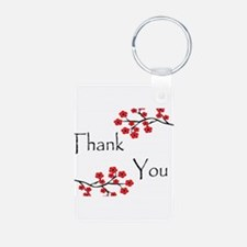 Red Cherry Blossoms Thank You.jpg Keychains