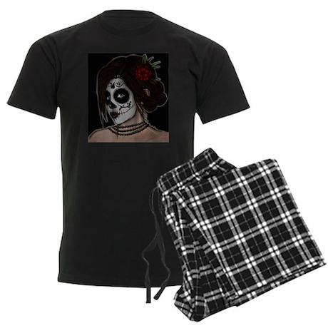 Dia de los Muertos Men's Dark Pajamas