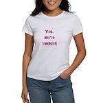 Yes, We're Twins - Pink & Pin Women's T-Shirt