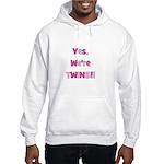 Yes, We're Twins - Pink & Pin Hooded Sweatshirt