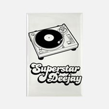 Superstar Deejay Rectangle Magnet