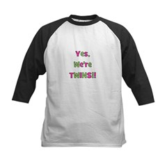 Yes We're Twins! Pink & Green Tee