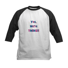 Yes, We're Twins! Blue & Pin Tee