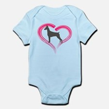 Heart My Blue Doberman Onesie