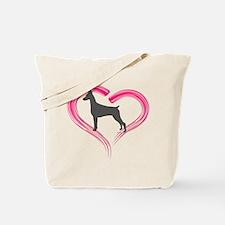 Heart My Blue Doberman Tote Bag