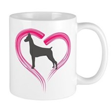 Heart My Blue Doberman Mug