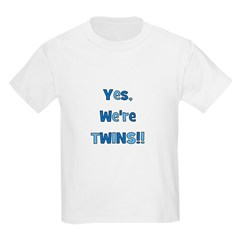 Yes, We're Twins! Blue & Blue Kids T-Shirt