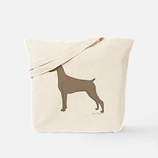 Fawn Doberman Silhouette Tote Bag