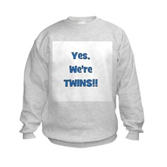 Yes, We're Twins! Blue Sweatshirt