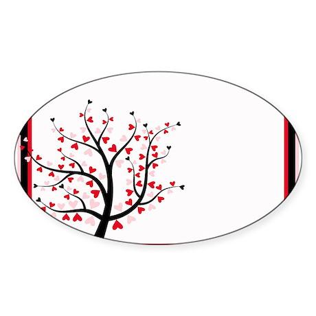 Valentines Save the Date.jpg Sticker (Oval 10 pk)