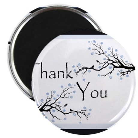 "winter thank you 2.25"" Magnet (10 pack)"