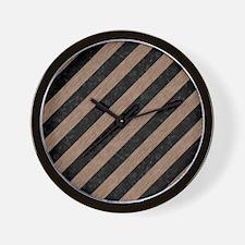 STR3 BK-MRBL BR-PNCL Wall Clock