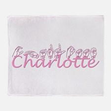 Charlotte-pink Throw Blanket