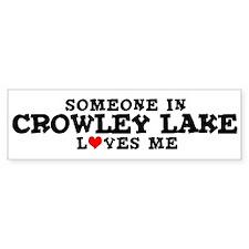 Crowley Lake: Loves Me Bumper Bumper Sticker