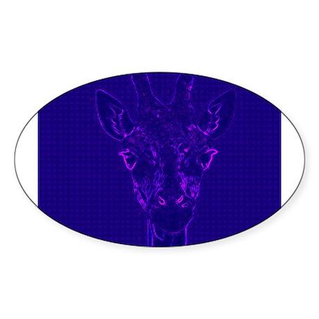 Ultraviolet Giraffe - Xeno Giraffe Logo Sticker (O