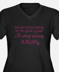 Dancing in the Rain Women's Plus Size V-Neck Dark