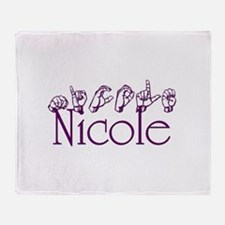 nicole.png Throw Blanket