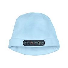Addicted to Dobermans baby hat