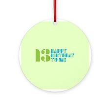 Happy Birthday 13 Ornament (Round)