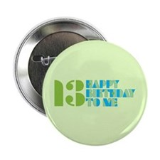 "Happy Birthday 13 2.25"" Button (10 pack)"