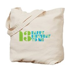Happy Birthday 13 Tote Bag