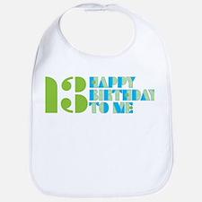 Happy Birthday 13 Bib