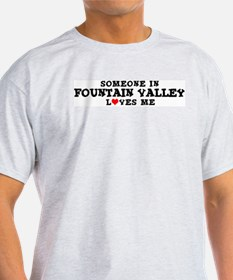 Fountain Valley: Loves Me Ash Grey T-Shirt