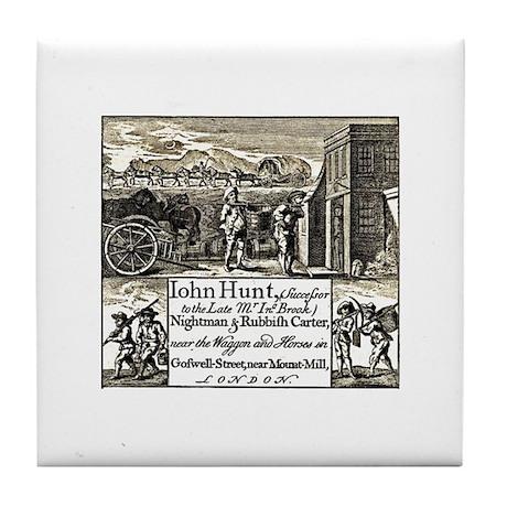 18th Century Privy Cleaner Tile Coaster