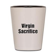 Virgin Sacrifice Design (Dark) Shot Glass