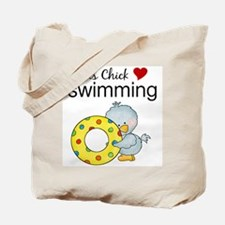 This Chick Loves Swimming Tote Bag