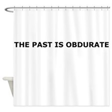 The past is obdurate Shower Curtain
