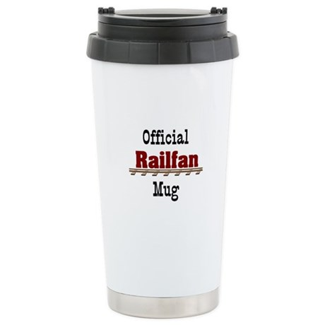 Official Railfan Stainless Steel Travel Mug