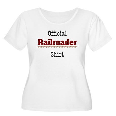 Official Railroader Women's Plus Size Scoop Neck T