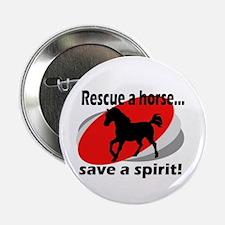 Rescue a Horse, Save a Spirit Button