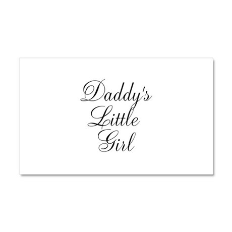 Daddys Little Girl Car Magnet 20 x 12