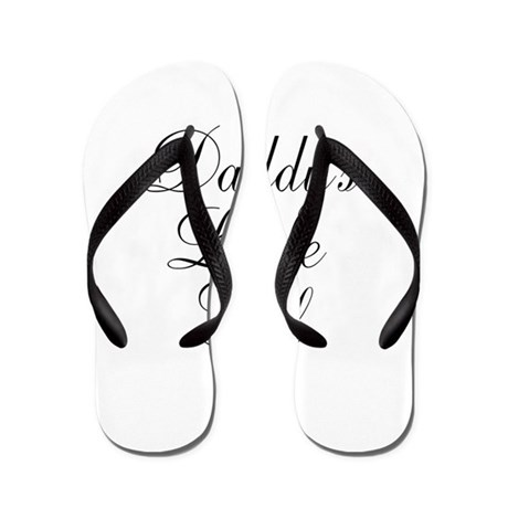 Daddys Little Girl Flip Flops