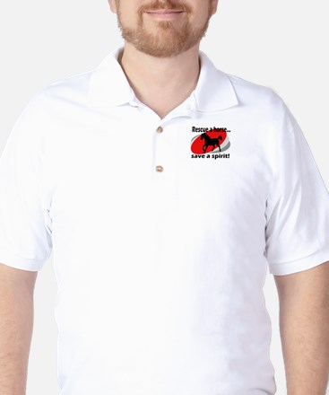 Rescue a Horse, Save a Spirit Golf Shirt
