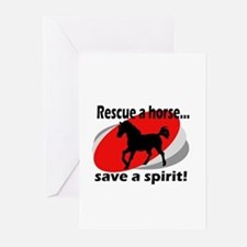 Rescue a Horse, Save a Spirit Greeting Cards (Pack