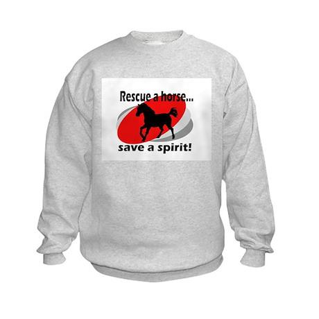 Rescue a Horse, Save a Spirit Kids Sweatshirt