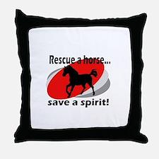 Rescue a Horse, Save a Spirit Throw Pillow